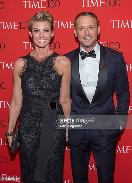 Singers Faith Hill and Tim McGraw attend the 2015 Time 100 Gala at Frederick P Rose Jazz Hall at Lincoln Center on April 21 2015 in New York City