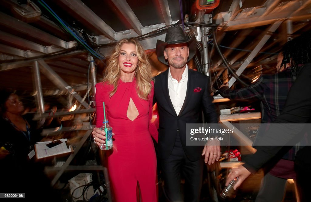 Singers Faith Hill and Tim McGraw attend The 59th GRAMMY Awards at STAPLES Center on February 12, 2017 in Los Angeles, California.
