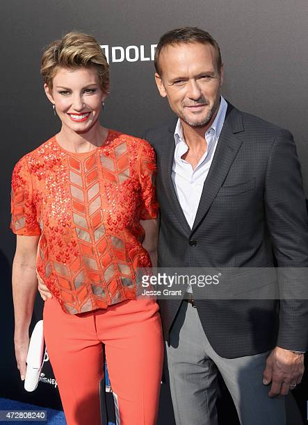 Singers Faith Hill and Tim McGraw attend the premiere of Disney's 'Tomorrowland' at AMC Downtown Disney 12 Theater on May 9 2015 in Anaheim California