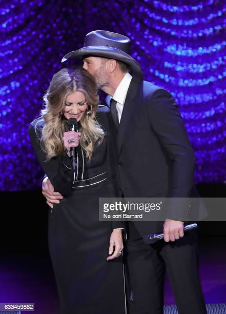 Singers Faith Hill and Tim McGraw perform onstage during Lincoln Center's American Songbook Gala at Alice Tully Hall on February 1 2017 in New York...