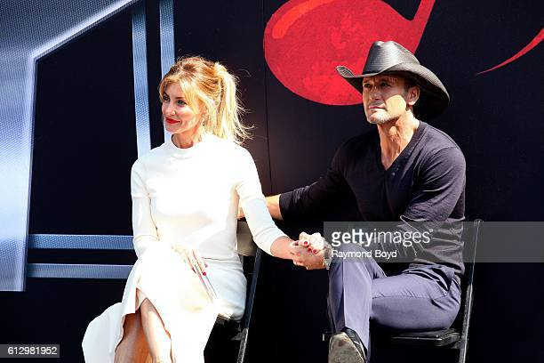 Singers Faith Hill and Tim McGraw prepares to receive stars on the Music City Walk of Fame in 'Walk of Fame Park' in Nashville Tennessee on October 5...