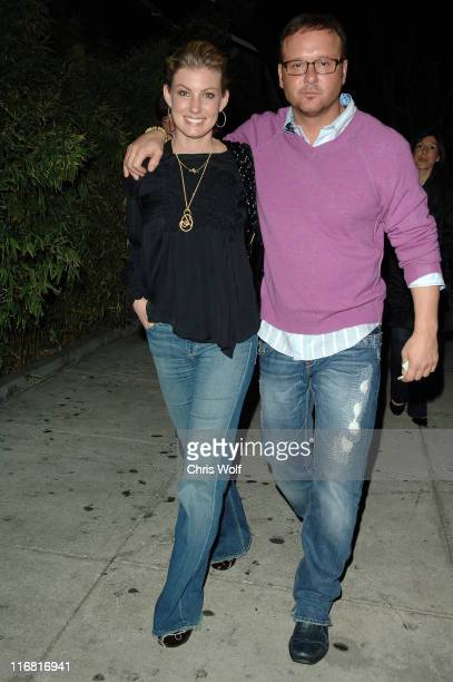 **EXCLUSIVE** Singers Faith Hill and Tim McGraw sightings at Koi on February 9 2008 in West Hollywood California
