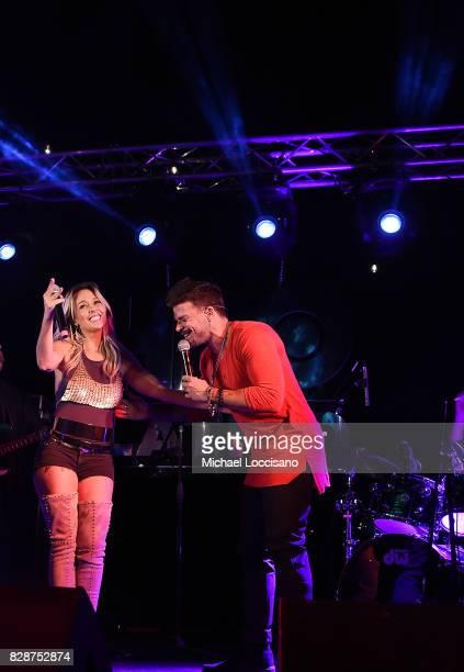 Singers Fey and Pedro Capo perform during HBO Latino x Pedro Capo En Letra de Otro at La Marina Restaurant Bar Beach Lounge on August 9 2017 in New...