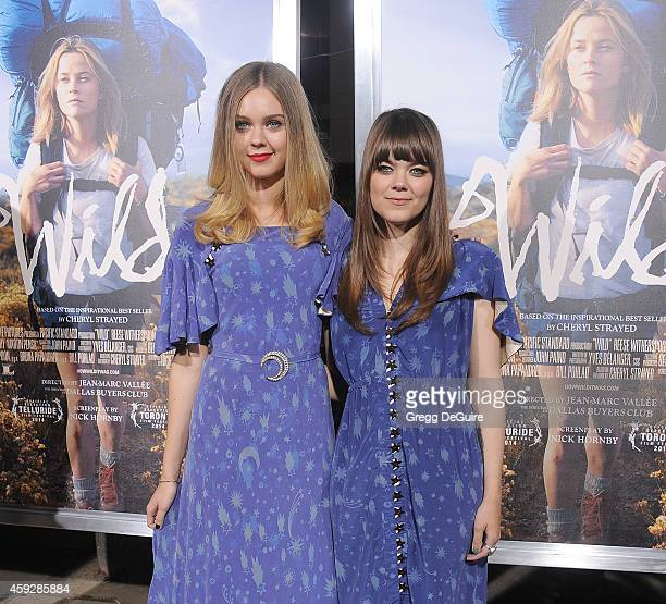 Singers First Aid Kit arrive at the Los Angeles premiere of 'Wild' at AMPAS Samuel Goldwyn Theater on November 19 2014 in Beverly Hills California