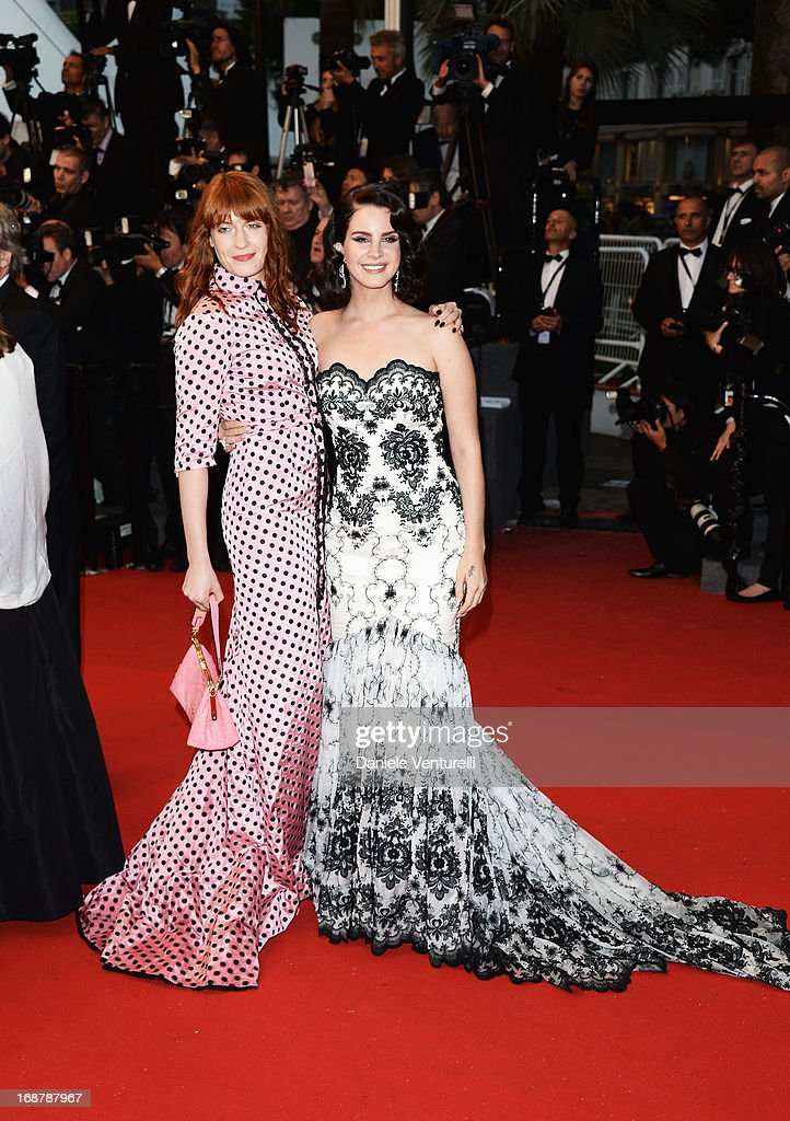 Singers Florence Welch (L) and Lana Del Rey attend the Opening Ceremony and premiere of 'The Great Gatsby' during the 66th Annual Cannes Film Festival at Palais des Festivals on May 15, 2013 in Cannes, France.