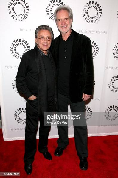 Singers Frankie Valli and Bob Gaudio attend The Crowd Goes Wild Five Years Of 'Jersey Boys' at The Paley Center for Media on November 8 2010 in New...
