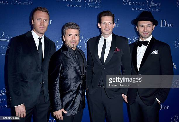 Singers Fraser Walters Remigio Pereira Clifton Murray and Victor Micallef of The Tenors attend 2014 Princess Grace Awards Gala at Regent Beverly...