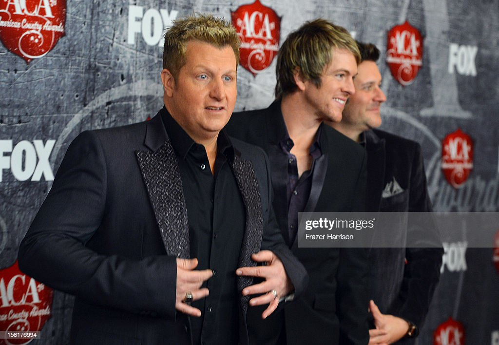 Singers Gary LeVox, JoeDon Rooney, and Day DeMarcus of Rascal Flatts arrive at the 2012 American Country Awards at the Mandalay Bay Events Center on December 10, 2012 in Las Vegas, Nevada.