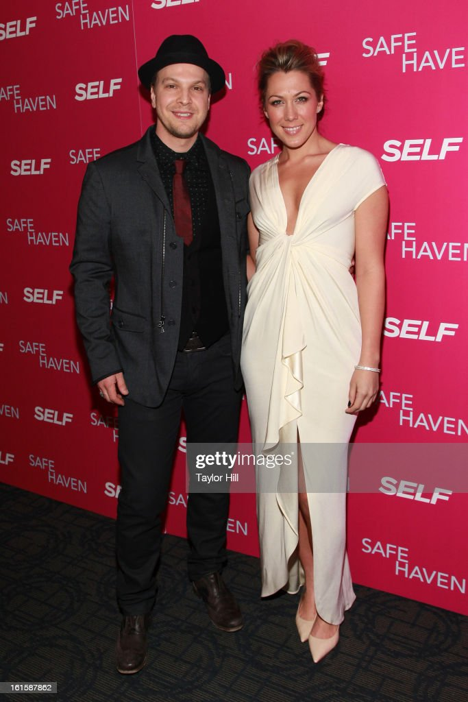 Singers Gavin DeGraw and Colbie Caillat attend a New York screening of 'Safe Haven' at Landmark Sunshine Cinema on February 11, 2013 in New York City.