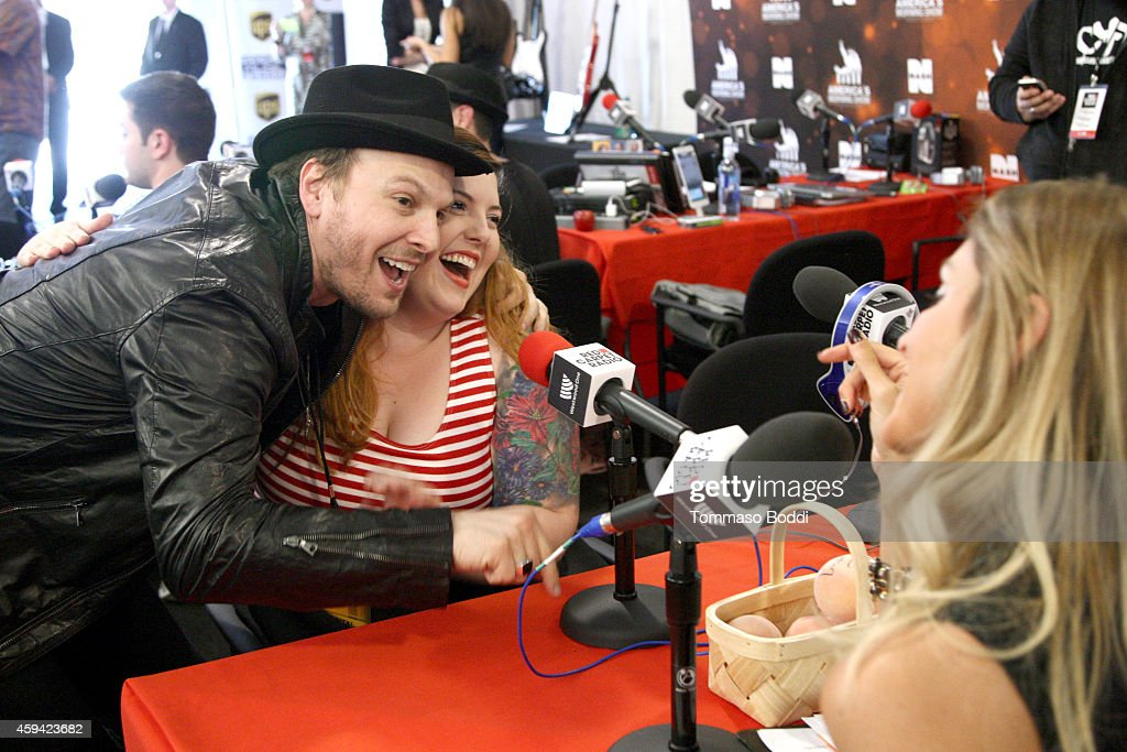 Singers Gavin DeGraw and Mary Lambert attend Red Carpet Radio presented by Westwood One at Nokia Theatre L.A. Live on November 22, 2014 in Los Angeles, California.