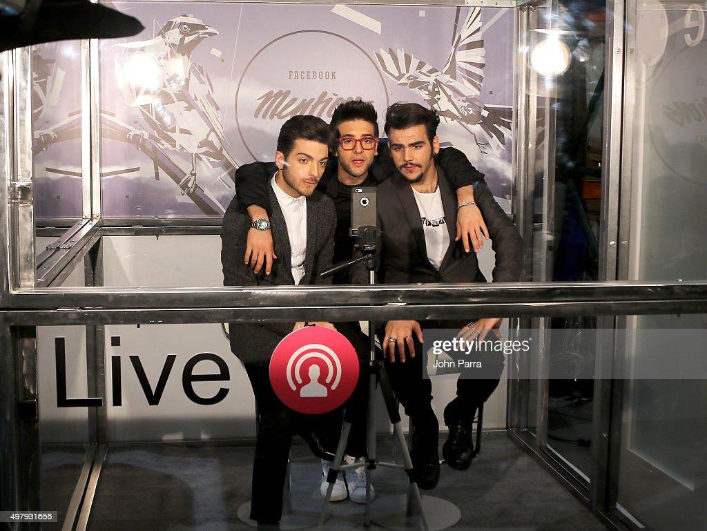 Singers Gianluca Ginoble Piero Barone and Ignazio Boschetto of Il Volo attend the 16th Latin GRAMMY Awards at the MGM Grand Garden Arena on November...
