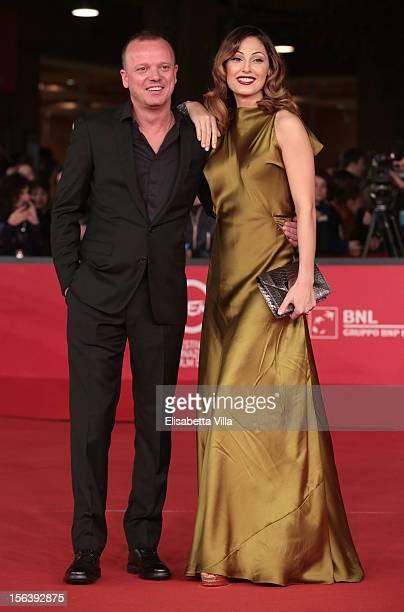 Singers Gigi D'Alessio and Anna Tatangelo attend the 'E La Chiamano Estate' Premiere during the 7th Rome Film Festival at the Auditorium Parco Della...