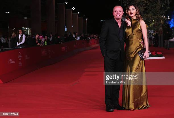 Singers Gigi D'Alessio and Anna Tatangelo attends the 'E La Chiamano Estate' Premiere during the 7th Rome Film Festival at the Auditorium Parco Della...