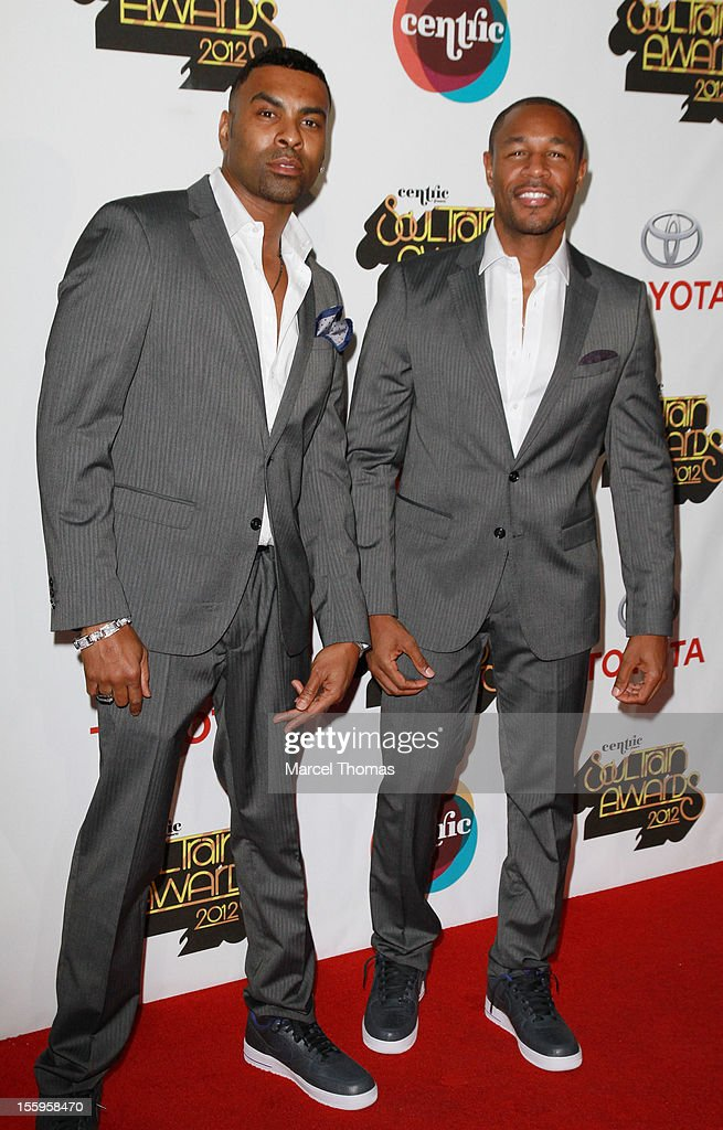 Singers <a gi-track='captionPersonalityLinkClicked' href=/galleries/search?phrase=Ginuwine&family=editorial&specificpeople=1654056 ng-click='$event.stopPropagation()'>Ginuwine</a> and Tank attend the Soul Train Awards 2012 at PH Live at Planet Hollywood Resort and Casino on November 8, 2012 in Las Vegas, Nevada.