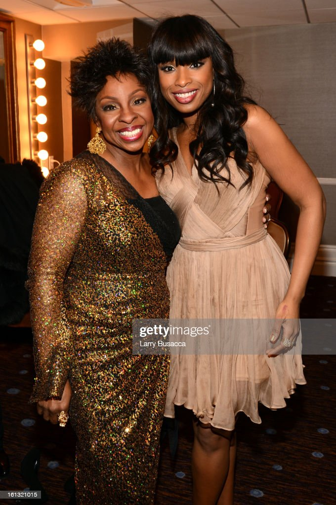 Singers <a gi-track='captionPersonalityLinkClicked' href=/galleries/search?phrase=Gladys+Knight&family=editorial&specificpeople=169894 ng-click='$event.stopPropagation()'>Gladys Knight</a> and <a gi-track='captionPersonalityLinkClicked' href=/galleries/search?phrase=Jennifer+Hudson&family=editorial&specificpeople=234833 ng-click='$event.stopPropagation()'>Jennifer Hudson</a> attends the 55th Annual GRAMMY Awards Pre-GRAMMY Gala and Salute to Industry Icons honoring L.A. Reid held at The Beverly Hilton on February 9, 2013 in Los Angeles, California.