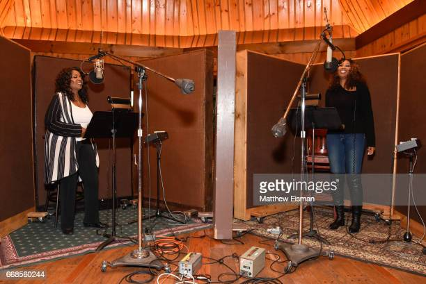 Singers Gloria Gaynor and Yolanda Adams record together for the upcoming release 'Testimony' at Avatar Studios on April 14 2017 in New York City