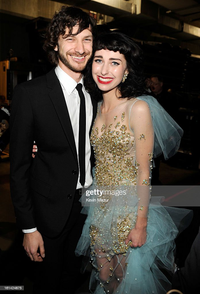 Singers <a gi-track='captionPersonalityLinkClicked' href=/galleries/search?phrase=Gotye&family=editorial&specificpeople=4056440 ng-click='$event.stopPropagation()'>Gotye</a> (L) and Kiimbra attend the 55th Annual GRAMMY Awards at STAPLES Center on February 10, 2013 in Los Angeles, California.