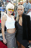 Singers Gwen Stefani and Eve at the premiere of the film 'XXX' at the Village Theater in Westwood California August 5 2002 T402374