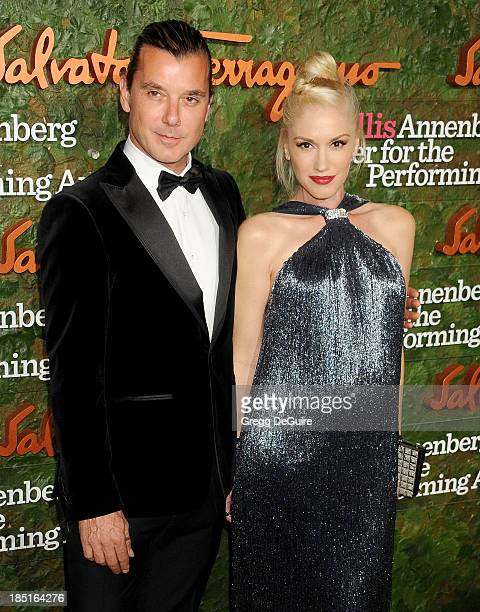 Singers Gwen Stefani and Gavin Rossdale arrive at the Wallis Annenberg Center For The Performing Arts Inaugural Gala at Wallis Annenberg Center for...