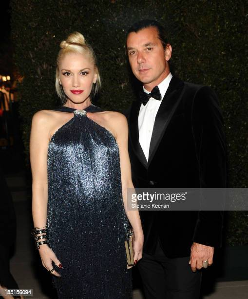Singers Gwen Stefani and Gavin Rossdale wearing Ferragamo attend the Wallis Annenberg Center for the Performing Arts Inaugural Gala presented by...