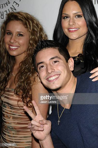 Singers Haley Reinhart Stefano Langone and Pia Toscano attend the 'American Idol' event at PaleyFest 2011 at Saban Theatre on March 14 2011 in...