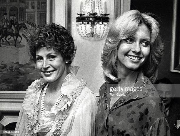 Singers Helen Reddy and Olivia Newton John attending 'The National Tribute to Hubert Humphrey' on December 2 1977 at the Washington DC Hilton Hotel...