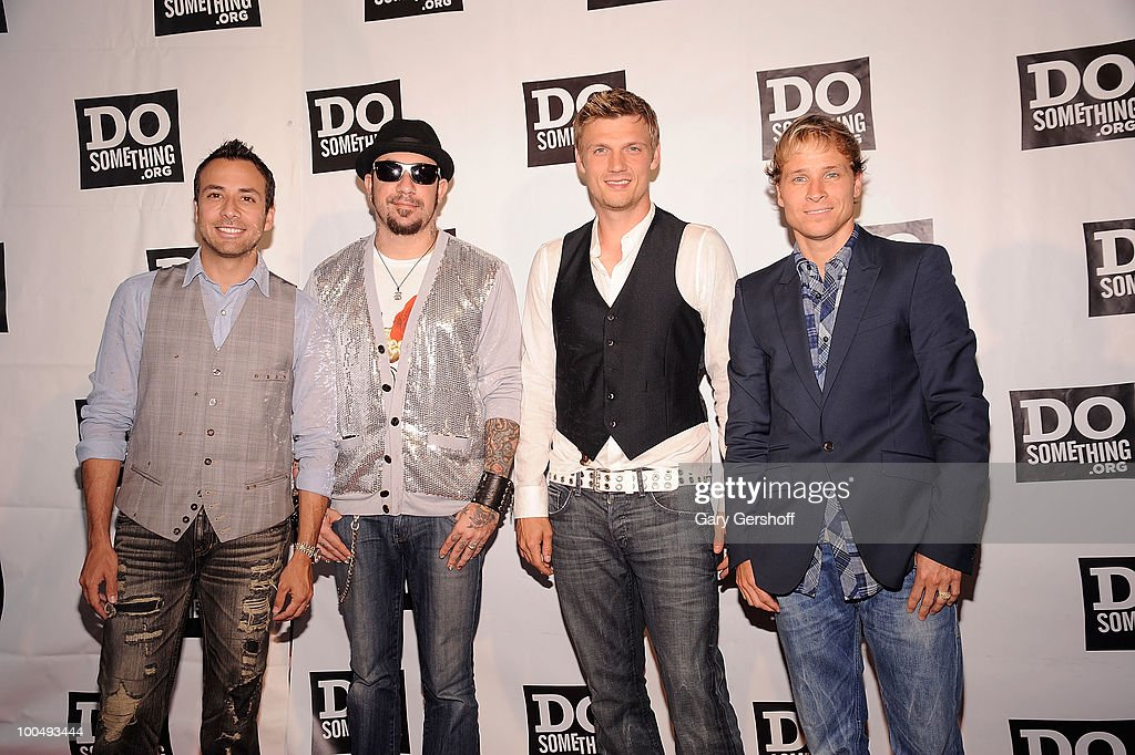 Singers <a gi-track='captionPersonalityLinkClicked' href=/galleries/search?phrase=Howie+Dorough&family=editorial&specificpeople=204770 ng-click='$event.stopPropagation()'>Howie Dorough</a>, A.J. McLean, <a gi-track='captionPersonalityLinkClicked' href=/galleries/search?phrase=Nick+Carter&family=editorial&specificpeople=201755 ng-click='$event.stopPropagation()'>Nick Carter</a> and <a gi-track='captionPersonalityLinkClicked' href=/galleries/search?phrase=Brian+Littrell&family=editorial&specificpeople=215310 ng-click='$event.stopPropagation()'>Brian Littrell</a> of the pop band Backstreet Boys attend DoSomething.org's celebration of the 2010 Do Something Award nominees at The Apollo Theater on May 24, 2010 in New York City.