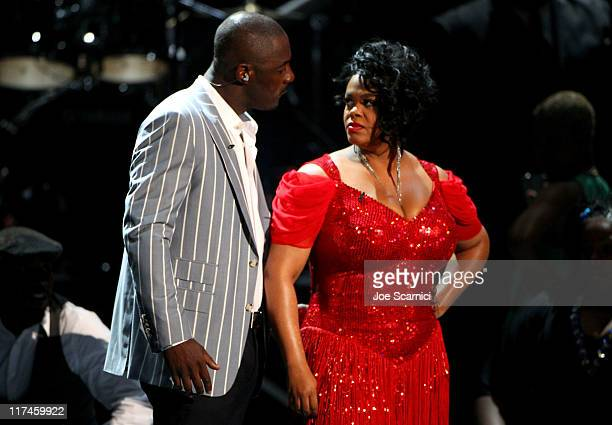 Singers Idris Elba and Jill Scott perform onstage at the BET Awards '11 held at The Shrine Auditorium on June 26 2011 in Los Angeles California