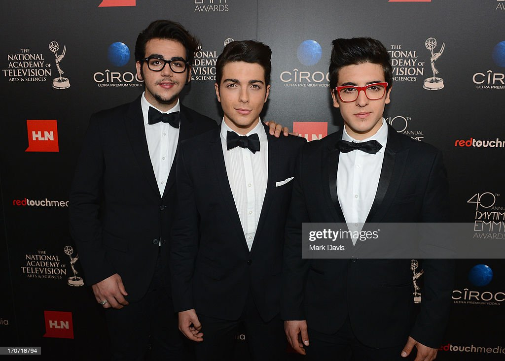 Singers <a gi-track='captionPersonalityLinkClicked' href=/galleries/search?phrase=Ignazio+Boschetto&family=editorial&specificpeople=5945023 ng-click='$event.stopPropagation()'>Ignazio Boschetto</a>, <a gi-track='captionPersonalityLinkClicked' href=/galleries/search?phrase=Gianluca+Ginoble&family=editorial&specificpeople=5945022 ng-click='$event.stopPropagation()'>Gianluca Ginoble</a> and <a gi-track='captionPersonalityLinkClicked' href=/galleries/search?phrase=Piero+Barone&family=editorial&specificpeople=5945024 ng-click='$event.stopPropagation()'>Piero Barone</a> of Il Volo attend The 40th Annual Daytime Emmy Awards at The Beverly Hilton Hotel on June 16, 2013 in Beverly Hills, California.