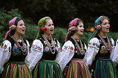 Singers in traditional Polish dress perform after a luncheon in Warsaw given in honor of American President Gerald Ford