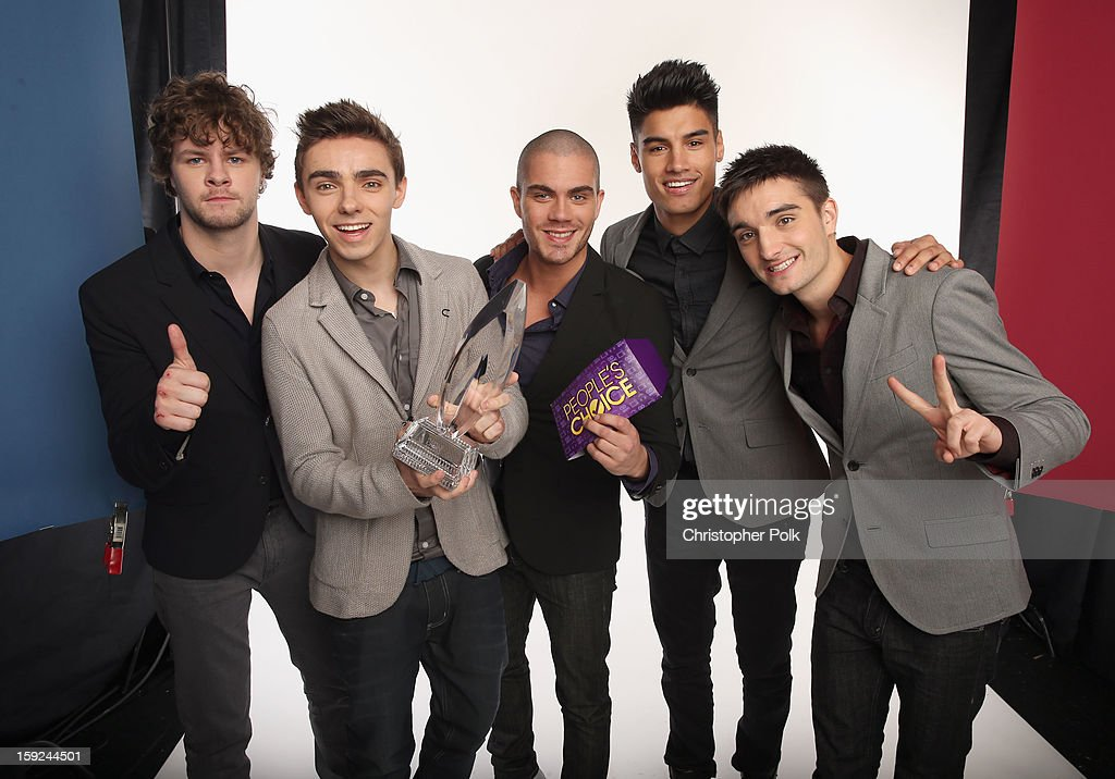 Singers Jay McGuiness, Nathan Sykes, Max George, Siva Kaneswaran and Tom Parker of The Wanted pose for a portrait during the 39th Annual People's Choice Awards at Nokia Theatre L.A. Live on January 9, 2013 in Los Angeles, California.