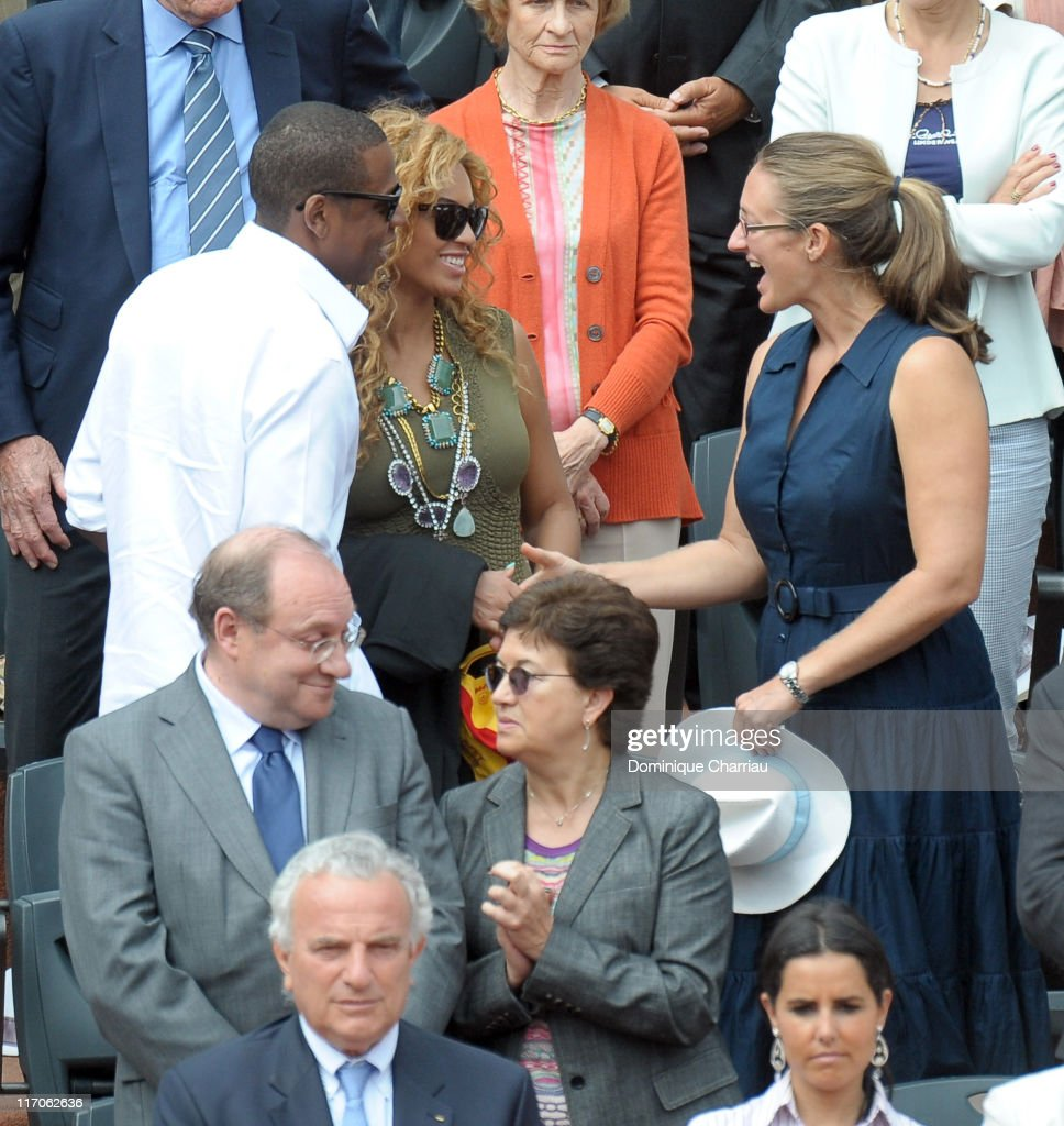 Celebrity Sightings at the French Open - June, 6th