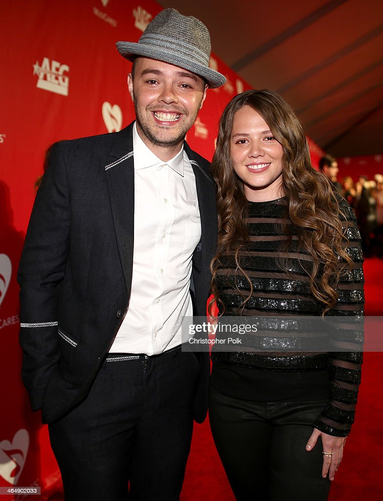 Singers <a gi-track='captionPersonalityLinkClicked' href=/galleries/search?phrase=Jesse+Huerta&family=editorial&specificpeople=6343572 ng-click='$event.stopPropagation()'>Jesse Huerta</a> (L) and Joy Huerta of Jesse & Joy attend 2014 MusiCares Person Of The Year Honoring Carole King at Los Angeles Convention Center on January 24, 2014 in Los Angeles, California.