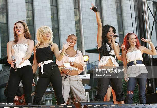 Singers Jessica Sutta Kimberly Wyatt Melody Thorton Nicole Scherzinger and Carmit Bachar of The Pussycat Dolls perform on ABC's Good Morning America...