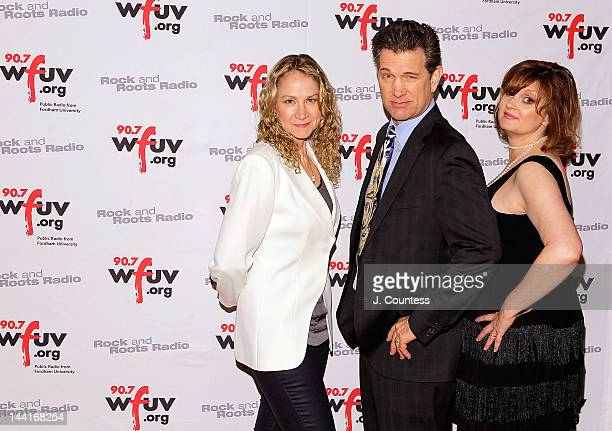 Singers Joan Osborne Chris Isaak and musician Claudia Marshall attend the 5th Annual WFUV Radio Spring Gala at Gotham Hall on May 10 2012 in New York...