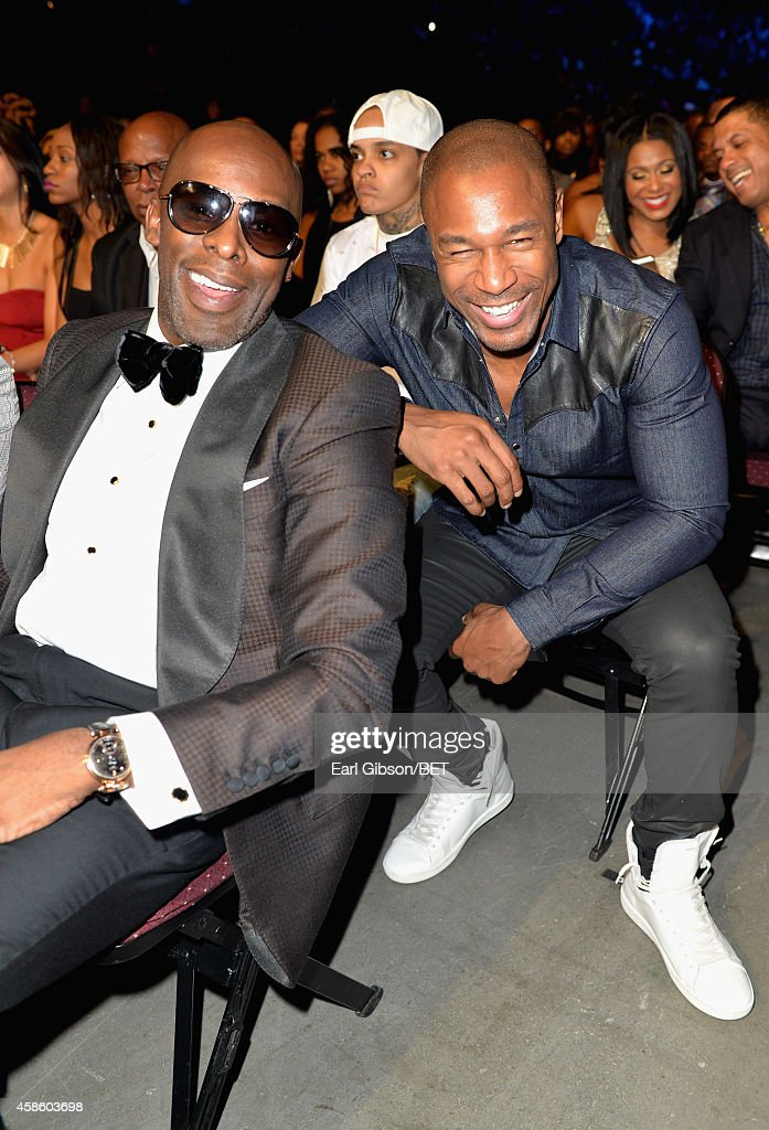 Singers Joe and Tank attend the 2014 Soul Train Music Awards at the Orleans Arena on November 7 2014 in Las Vegas Nevada