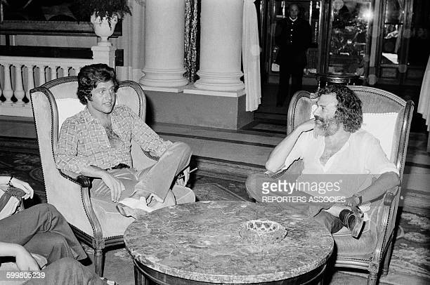 Singers Joe Dassin And Georges Moustaki In Nice France In 1970