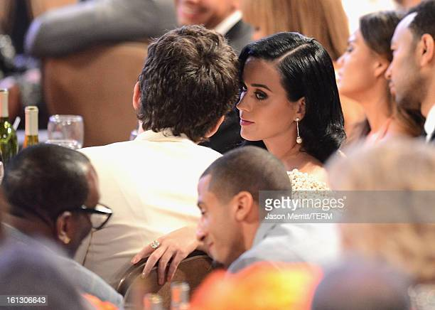 Singers Jon Mayer and Katy Perry attend the 55th Annual GRAMMY Awards PreGRAMMY Gala and Salute to Industry Icons honoring LA Reid held at The...