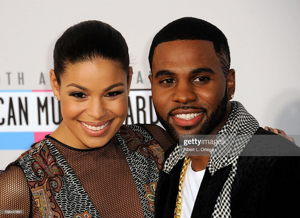 Singers Jordin Sparks and Jason Derulo arrive for the 40th Anniversary American Music Awards - Arrivals held at Nokia Theater L.A. Live on November 18, 2012 in Los Angeles, California.