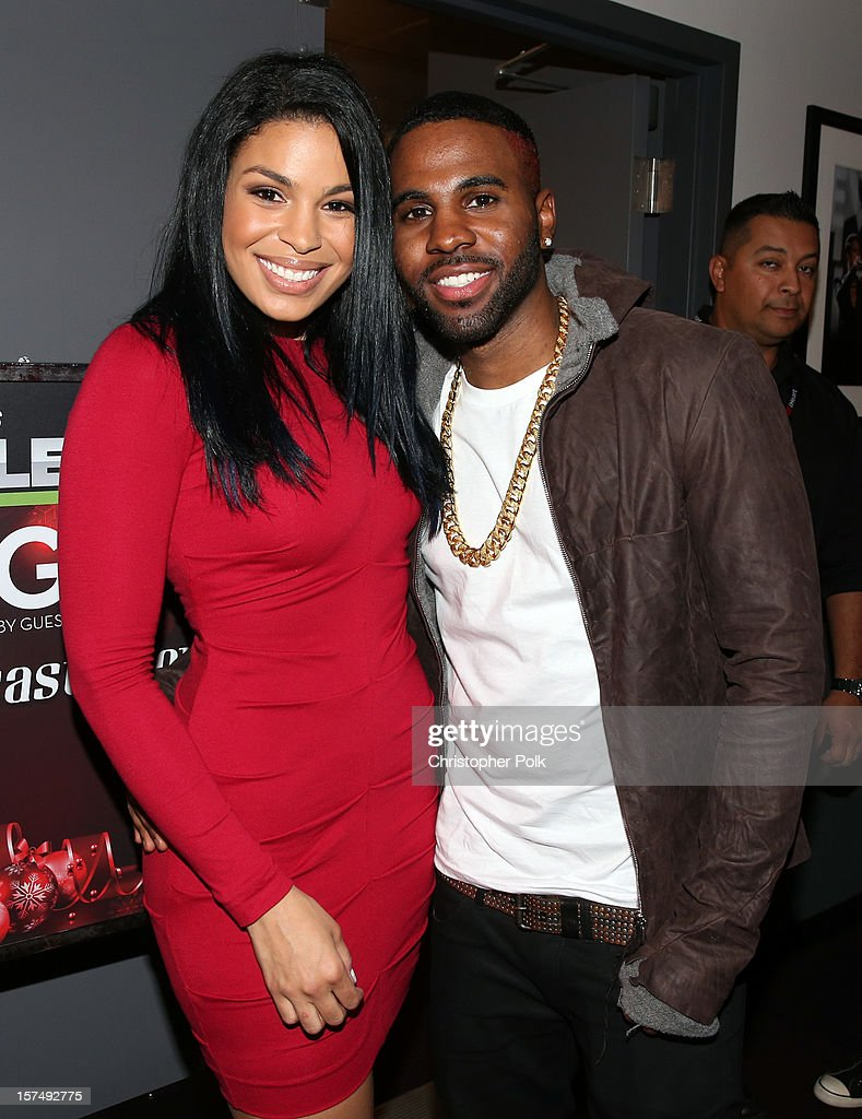Singers Jordin Sparks and Jason Derulo attend KIIS FM's 2012 Jingle Ball at Nokia Theatre L.A. Live on December 3, 2012 in Los Angeles, California.