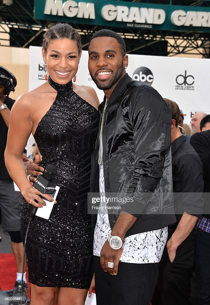Singers Jordin Sparks and Jason Derulo attend the 2014 Billboard Music Awards at the MGM Grand Garden Arena on May 18 2014 in Las Vegas Nevada