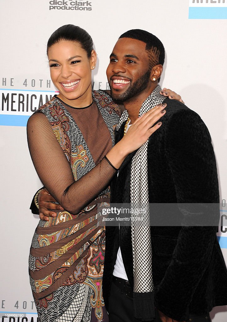 Singers Jordin Sparks (L) and Jason Derulo attend the 40th American Music Awards held at Nokia Theatre L.A. Live on November 18, 2012 in Los Angeles, California.
