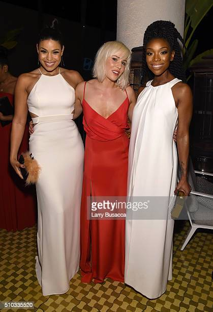 Singers Jordin Sparks Natasha Bedingfield and Brandy attend the 2016 PreGRAMMY Gala and Salute to Industry Icons honoring Irving Azoff at The Beverly...