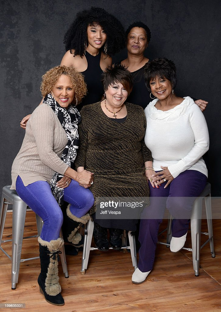Singers Judith Hill, Lisa Fischer (Bottom L-R) Darlene Love, Tata Vega, and Merry Clayton pose for a portrait during the 2013 Sundance Film Festival at the WireImage Portrait Studio at Village At The Lift on January 21, 2013 in Park City, Utah.