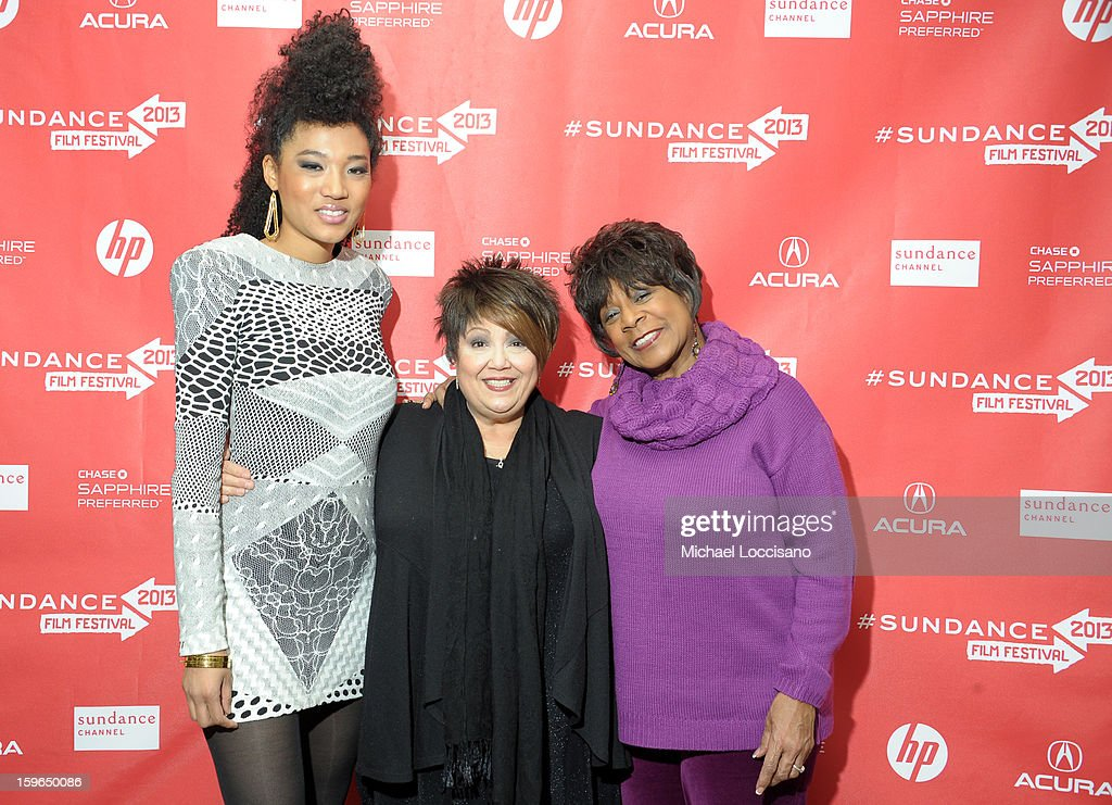 Singers Judith Hill, Tata Vega and Merry Clayton attend the 'Twenty Feet From Stardom' premiere during the 2013 Sundance Film Festival at Eccles Center Theatre on January 17, 2013 in Park City, Utah.