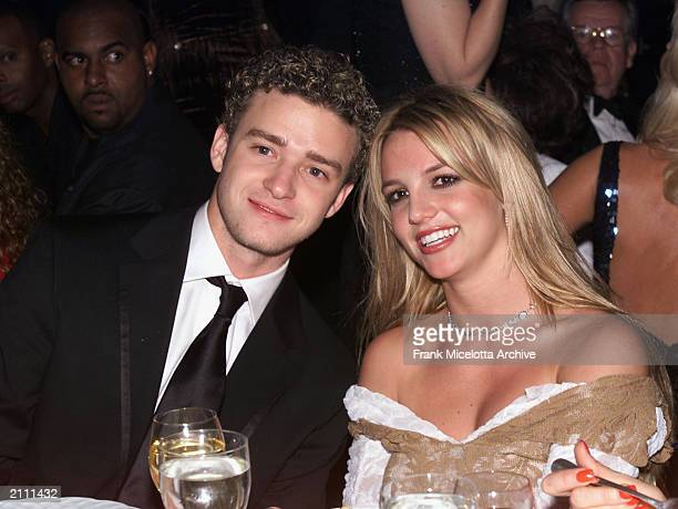 Singers Justin Timberlake and Britney Spears attend the 27th Annual Clive Davis PreGrammy party together Beverly Hills Hotel in Los Angeles...