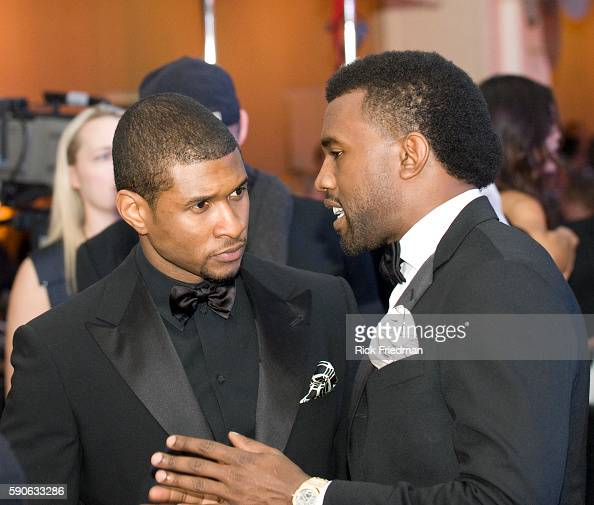 Singers Kanye West and Usher at the Youth Inaugural Ball at the Washington Hilton in Washington DC President and Mrs Obama attended 10 Inaugural Balls