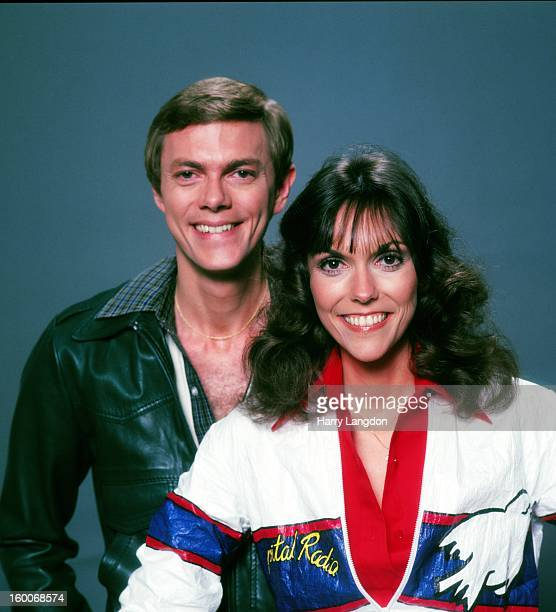 Singers Karen and Richard Carpenter of the Carpenters pose for a portrait in 1981 in Los Angeles California