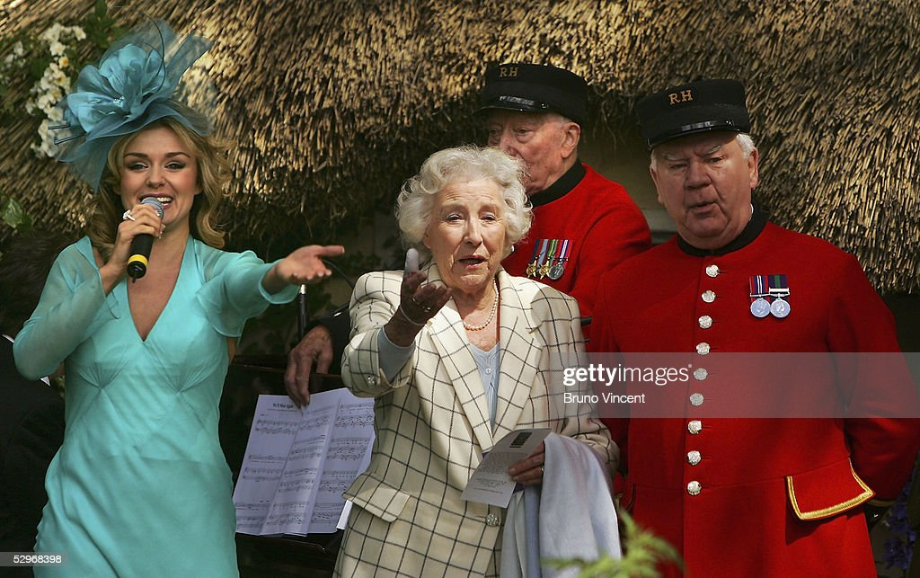 Singers Katherine Jenkins and Dame Vera Lynn attend the Royal Horticultural Society's Chelsea Flower Show on May 23, 2005 in London.
