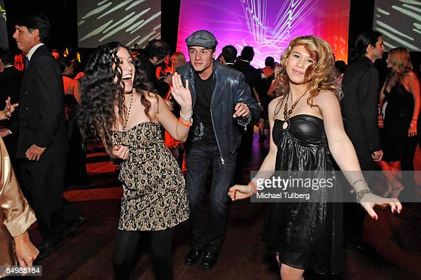 Singers Keana Teyeira and Savannah Van of the pop group GGirlz dance at the 10th Annual Academy Awards Celebration After Party benefiting Children...